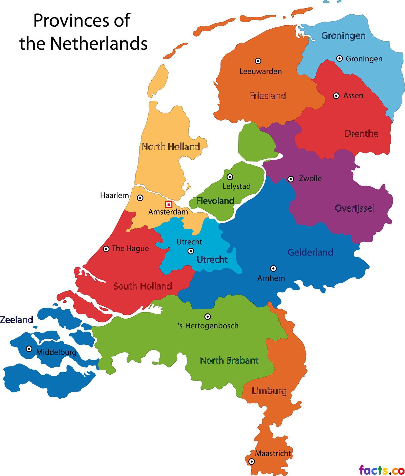 Carte Europe Pays Bas.Pays Bas Etats De La Carte De La Hollande Unis De La Carte Europe