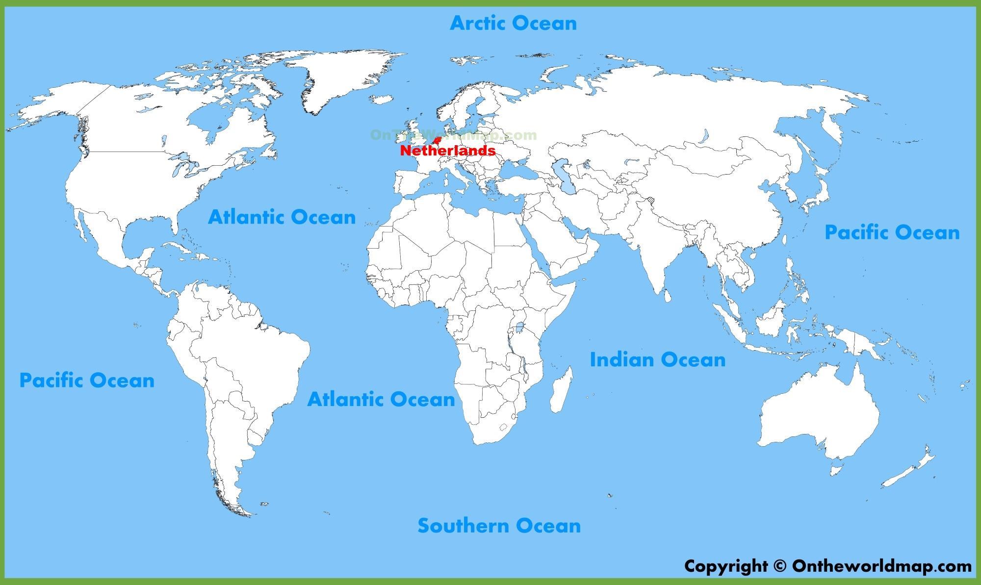 Pays-bas carte du monde - pays-bas sur la carte du monde ...