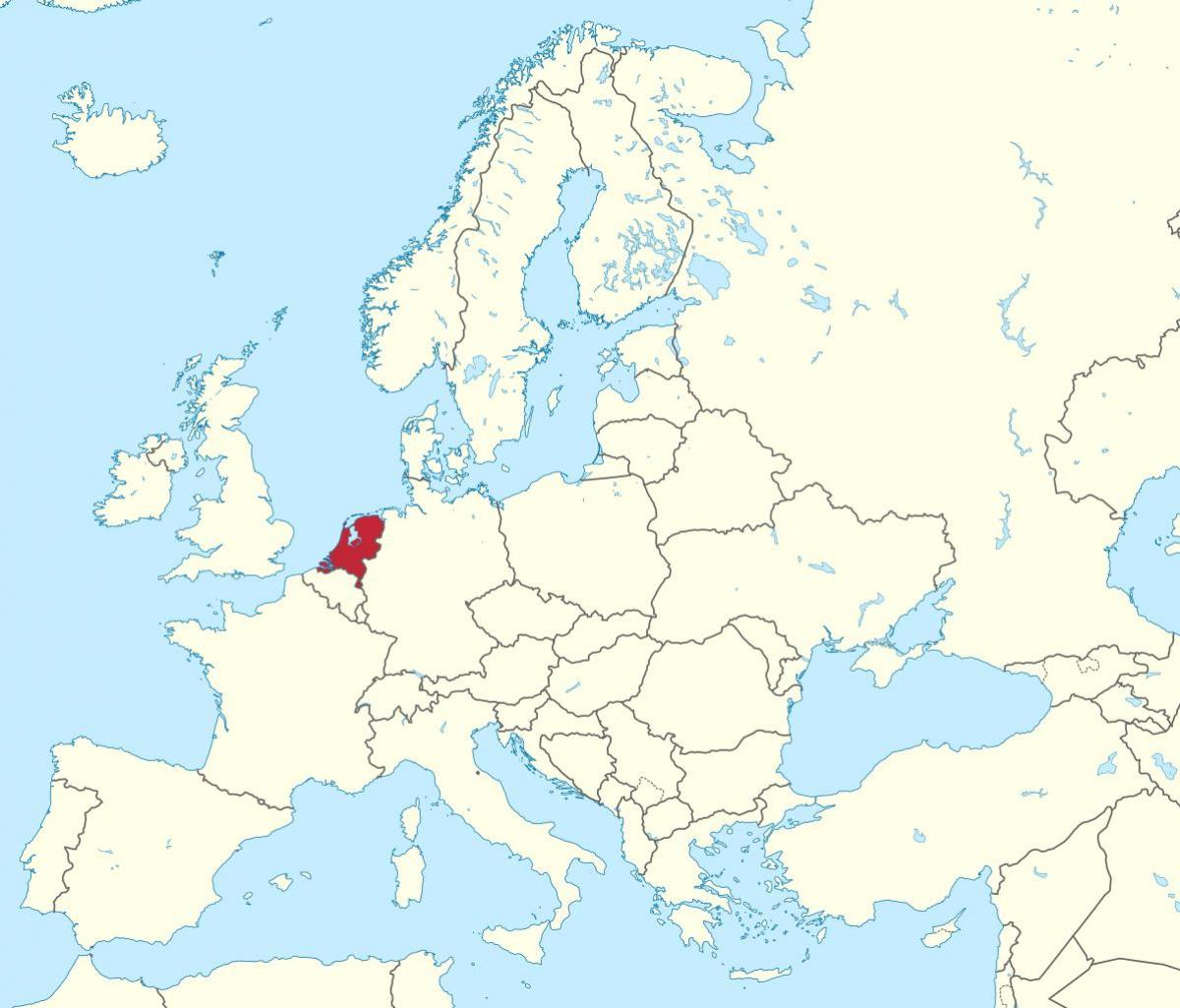 Carte De Leurope Pays Bas.Carte De L Europe Pays Bas Pays Bas Carte Europe Europe