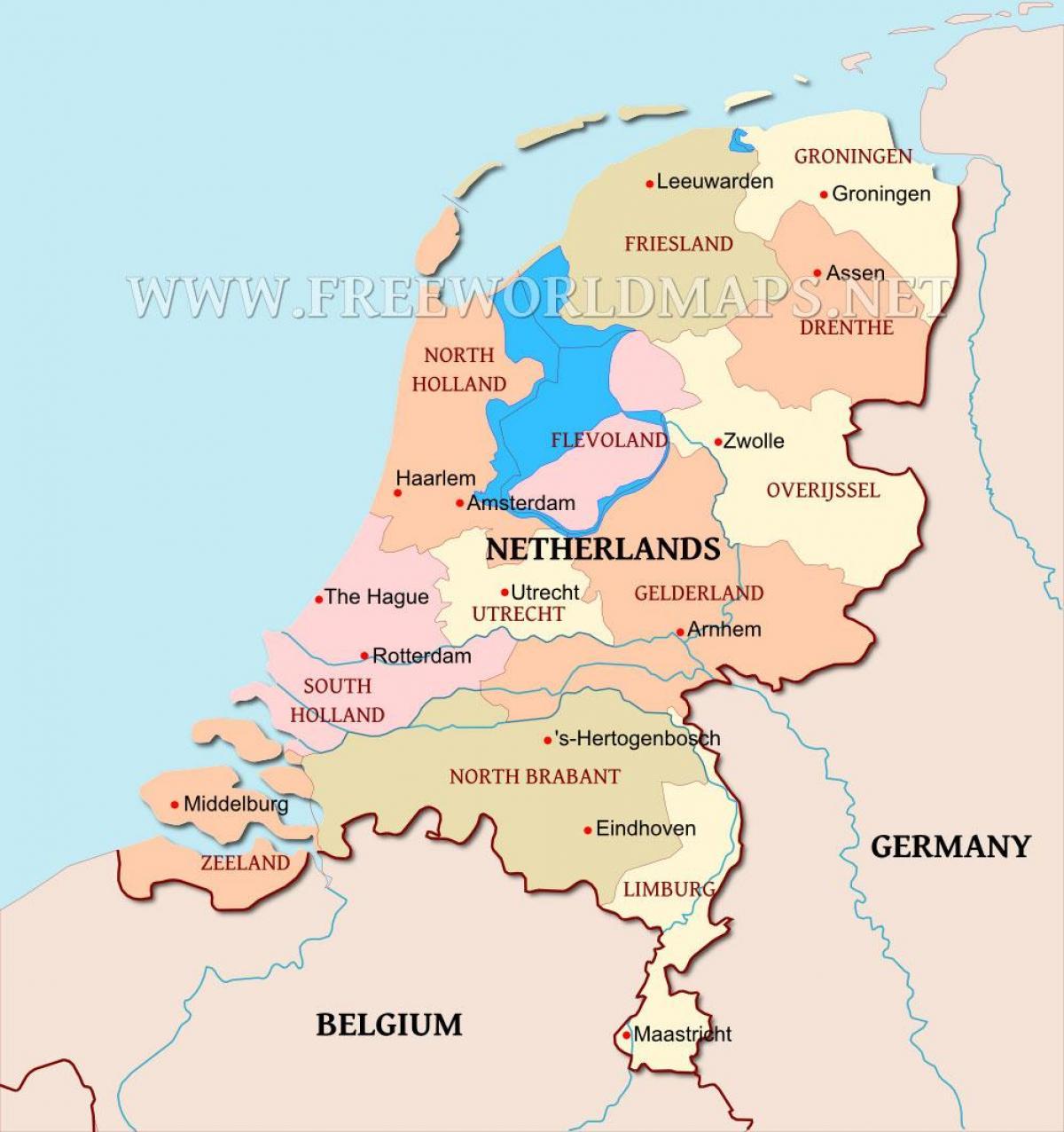 Carte Europe Pays Bas.Pays Carte Des Pays Bas Sur La Carte Europe De L Ouest