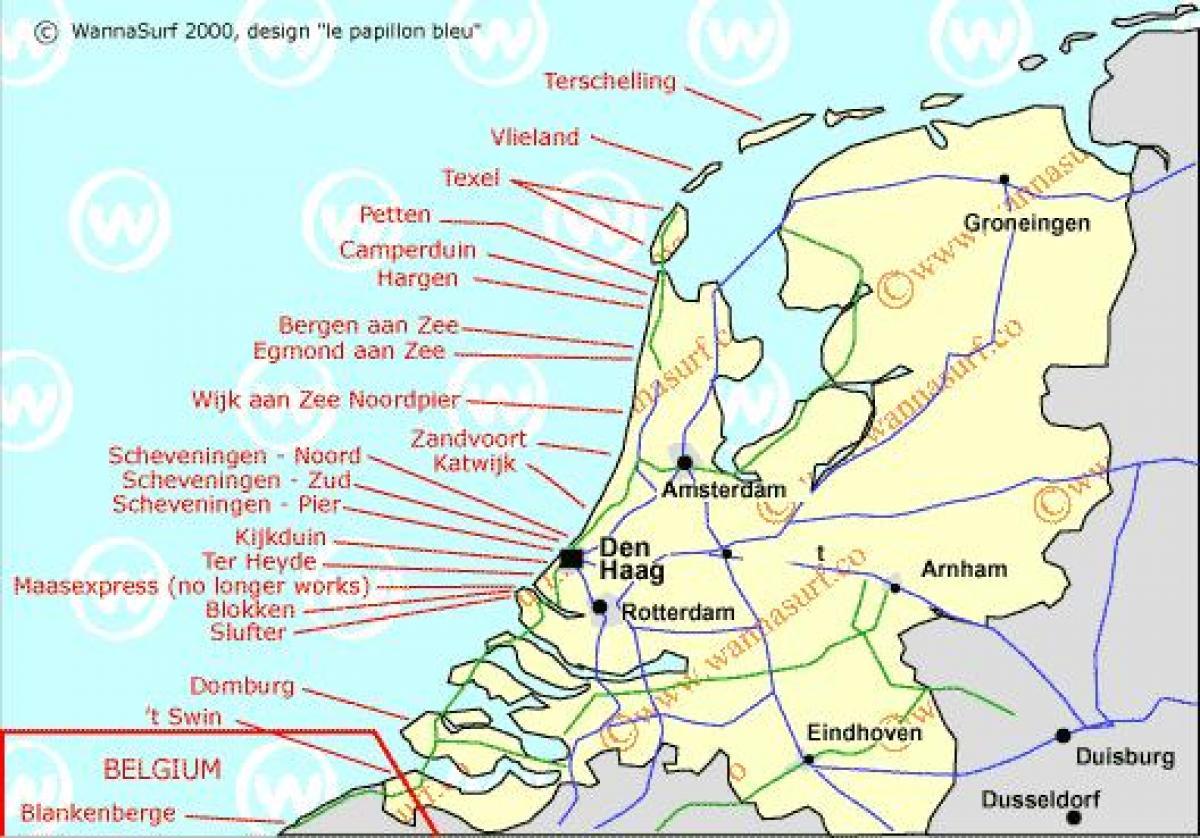 Carte Europe Pays Bas.Pays Bas Beach Carte De La Hollande Plage Carte Europe De L Ouest